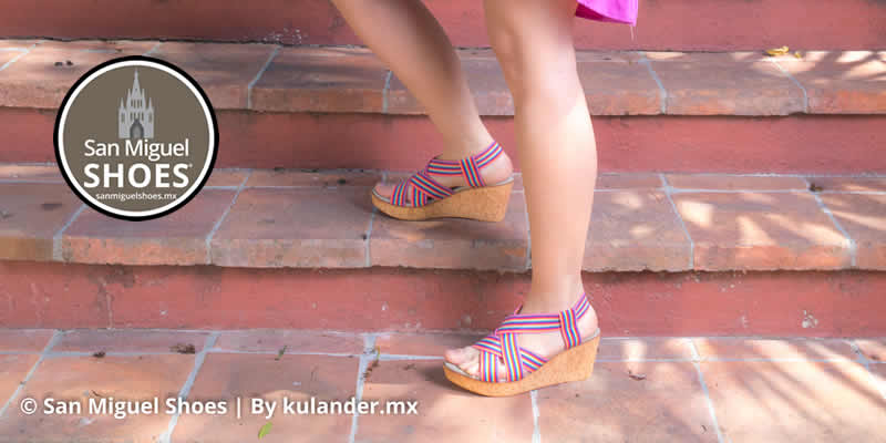 Luce romántica con San Miguel Shoes